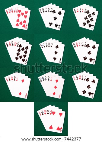 dealing 5 card poker hands standard deck stair dimensions