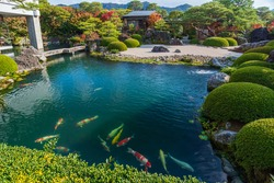 The vast artistic Japanese gardens are located in Shimane prefecture.There are 6 gardens are including The Karesansui style Garden,The White Gravel and Pine Garden ,The Pond Garden and The Moss Garden
