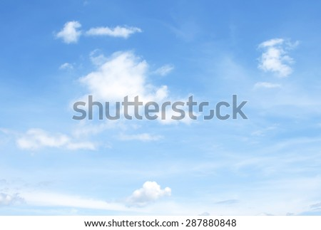 The vast blue sky and clouds sky #287880848