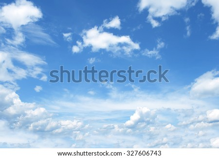 The vast blue sky and clouds sky - Shutterstock ID 327606743