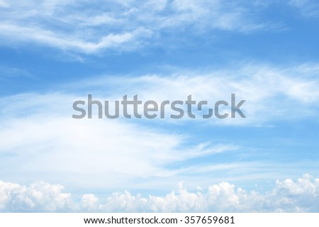 The vast blue sky and clouds sky - Shutterstock ID 357659681