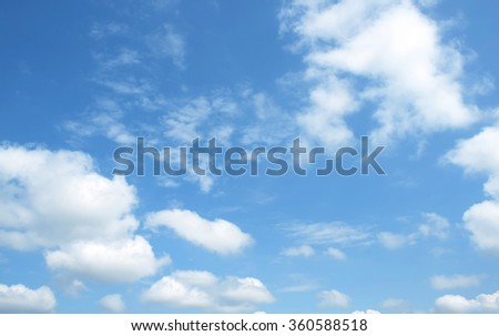 The vast blue sky and clouds sky - Shutterstock ID 360588518