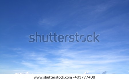 The vast blue sky and clouds sky. - Shutterstock ID 403777408
