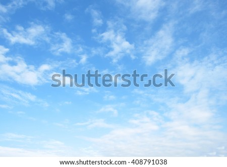 The vast blue sky and clouds sky #408791038