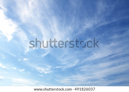 The vast blue sky and clouds sky. - Shutterstock ID 491826037