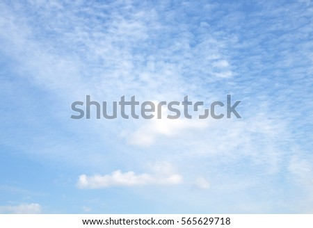The vast blue sky and clouds sky #565629718