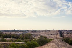 The vast steppe of Volgograd