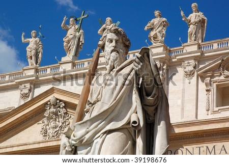 The Vatican City - St. Paul Statue