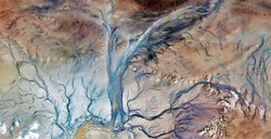 the veins of the earth, abstract photography of the deserts of Africa from the air. aerial view of desert landscapes, Genre: Abstract Naturalism, from the abstract to the figurative,contemporary photo