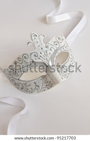 The Venetian mask on a light background