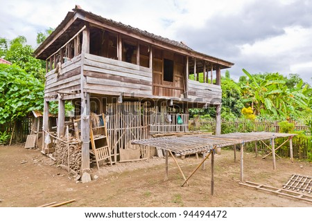 Vernacular Architecture on The Vernacular Architecture  A Wooden House Of A Farmer In The