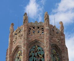 The Very Top of the Bok Tower Located in Winter Park, Florida