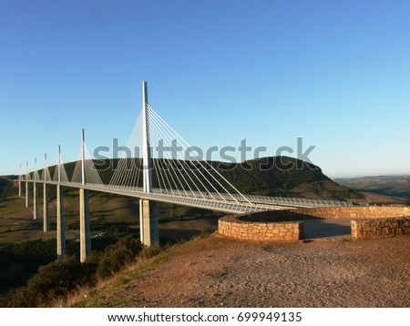 The viaduct of Millau in Aveyron. France