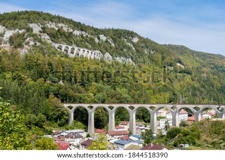 The viaducts of morez in the Jura mountains, France Photo stock ©