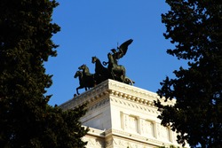 The Victor Emmanuel II National Monument or Vittoriano, called Altare della Patria, is a national monument built in honour of Victor Emmanuel II, the first king of a unified Italy, located in Rome, It
