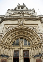 The Victoria and Albert Museum (founded in 1852 as South Kensington Museum) in London. World's largest museum of design and decorative arts and one of the most favorite museum for tourist.