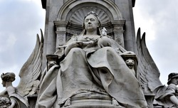 The Victoria Memorial is a monument to Queen Victoria, located at the end of The Mall in London, and designed and executed by the sculptor (Sir) Thomas Brock.