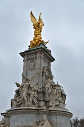 The Victoria Memorial is a sculpture dedicated to Queen Victoria, sculpted by Sir Thomas Brock in London