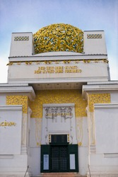 the vienna secession is located in the first district of vienna near karlsplatz and ringstrasse. it was founded in 1897 by gustav klimt, koloman moster, josef hoffmann, max kruzweil
