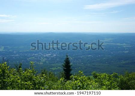 The view from Adams notch on Mount Greylock in N. Adams MA Stock fotó ©