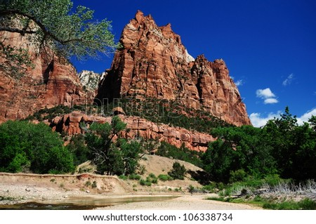 The View from Canyon Junction at Zion