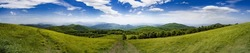The view from Max Patch, a bald on the Appalachian Trail that straddles Tennessee and North Carolina, in the Great Smoky Mountains National Park