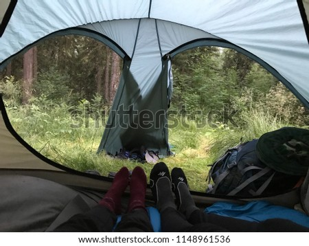 The view from the tents of the tourist tourist's tourist summer is tourism #1148961536