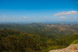 The view from the top National Park of La Gran Piedra, Big Rock in the Sierra Maestra mountain range near Santiago de Cuba, Cuba.