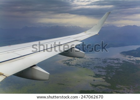 plane clouds and mountains - photo #37