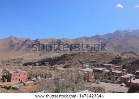 The view of Abyaneh Village in Barzrud Rural District, in the Central District of Natanz County, Isfahan Province, Iran. The Village is characterized by it's peculiar reddish hue,