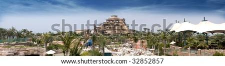 The view of Atlantis hotel in Dubai, this is the play area view of the famous Atlantis hotel in Dubai Plam.