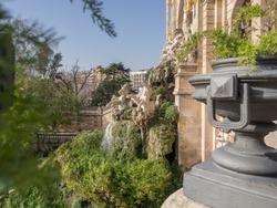 The view of Ciutadella Park (Parc de la Ciutadella) located in the center of Barcelona city. Barcelona, Spain, Europe.