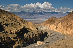 The view of Death Valley from Mosaic Canyon.