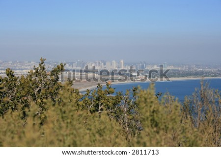The view of downtown San Diego from Point Loma.