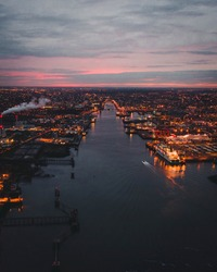 The View Of Dublin At Sunset