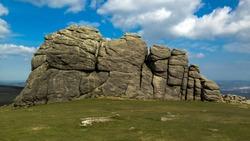 The view of Hay tor - Popular Devon beauty spot.