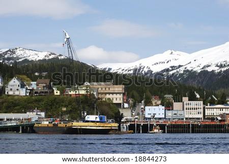 The view of Ketchikan downtown skyline (Alaska).