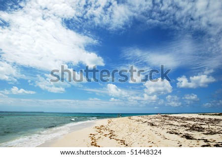 The view of  picturesque sky over Grand Turk island beach (Turks & Caicos).