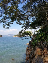 The view of Sai Wan Swimming Shed near Kennedy Town in HongKong in the year 2019