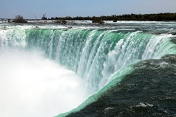 The view of the Horseshoe Falls. Niagara Falls, Ontario, Canada