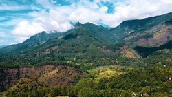 The View of the Horton Plains National Park Covered With Trees From the Main Road Near Haputale, Sri Lanka