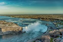 The view of the Niagara Falls, Ontario, Canada