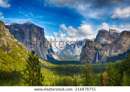 the view of the yosemite valley ...