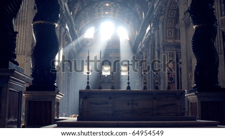 The view on the Basilica of St. Peter, Vatican