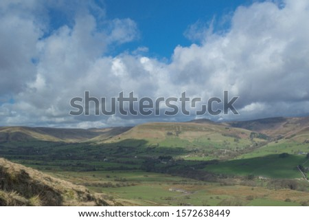 The view over Hope Valley in the Peak District, Derbyshire