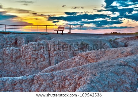 The View Point HDR - Badlands National Park, USA.