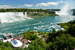 The view to the American falls and big Horseshoe fall, Niagara falls