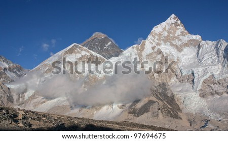 The view to the Mt. Everest with Kala Patthar - Nepal