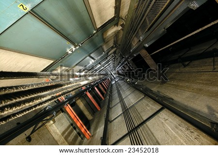 Elevator Shaft Construction Detail http://www.shutterstock.com/pic-23452018/stock-photo-the-view-up-inside-a-tall-elevator-shaft.html