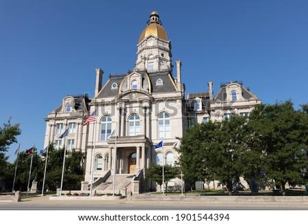 The Vigo county Court House, in the city of Terre Haute, Indiana, USA Photo stock ©